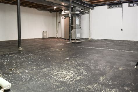 Unfinished Concrete Floor by Unfinished Basement Ideas That Sold Our House The