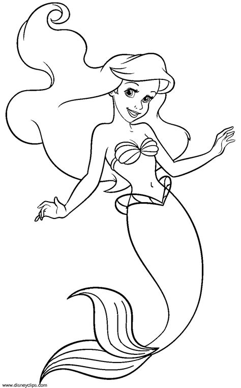coloring page for mermaid the little mermaid coloring pages to download and print