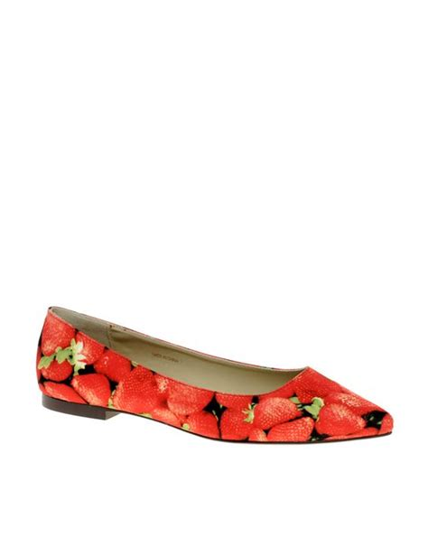 Strawberry Print Canvas Flats At Asos by Strawberry Print Ballet Flats So Sweet For Summer Well