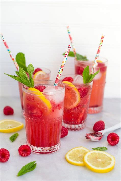 non alcoholic raspberry lemonade spritzers are the perfect