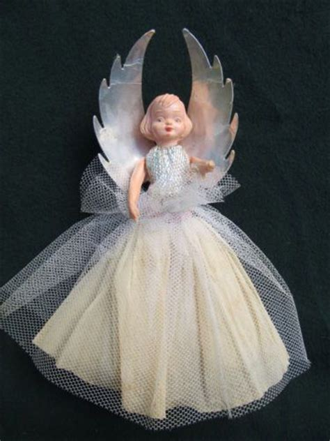 vintage christmas tree fairy doll dresses pinterest