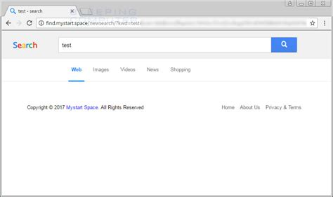 Remove Find Search Remove The Find Mystart Space Search Page