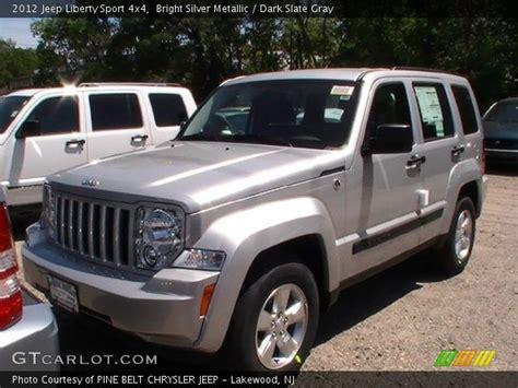 silver jeep liberty 2012 bright silver metallic 2012 jeep liberty sport 4x4