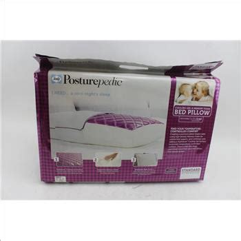 sealy posturepedic cooling gel and memory foam bed pillow