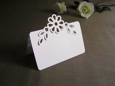 Pop Up Name Flower 100 blank pop up flower with leaves wedding place cards