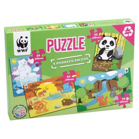 speelgoed ecocheques puzzel set van 4 terra toys wwf kudzu eco webshop
