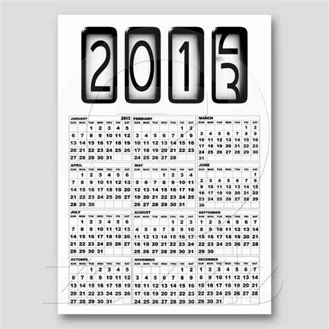 Calendario Negro Calendarios 2013 En Blanco Y Negro Con Dibujos Simp 225 Ticos