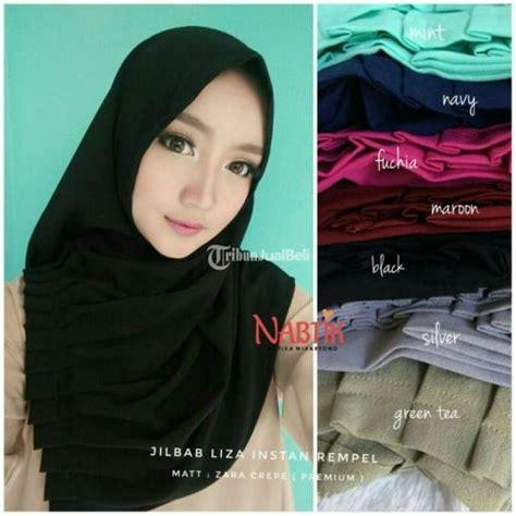 Jilbab Syari Bahan Crepe Jilbab Liza Instant Rempel Bahan Zara Crepe Premium Banyak