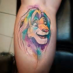 watercolor lion king tattoo best tattoo ideas gallery