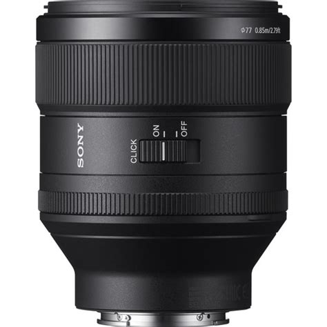 Sony Fe 85mm F 1 4 Gm Lens Hitam sony fe 85mm f 1 4 gm lens sel85f14gm miyamondo