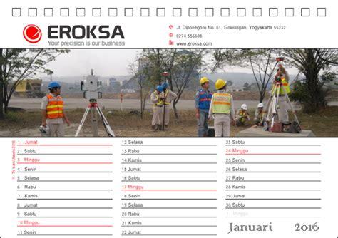 Desain Kalender Kantor | contoh desain kalender desktop meja kantor