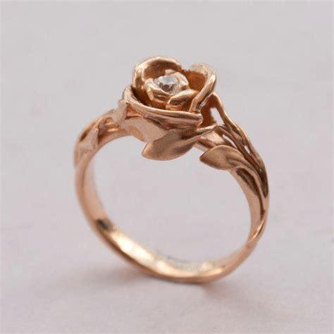 engagement ring 14k gold and from doronmerav
