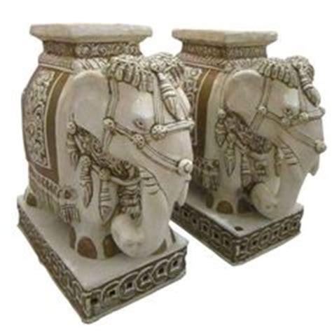 modern bohemia ceramic elephants antique plant stands ceramic elephants garden seat