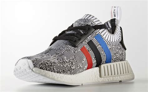 Adidas Nmd R1 Primeknit Starter adidas nmd primeknit white blue stripes sole collector