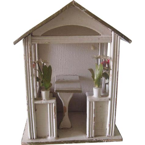 miniature gazebo antique gottschalk miniature german dollhouse gazebo