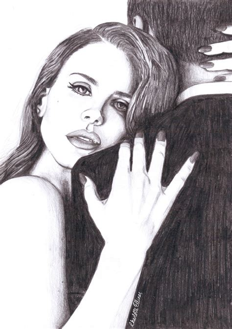 lana del rey pencil drawing by artbycharlotte on deviantart