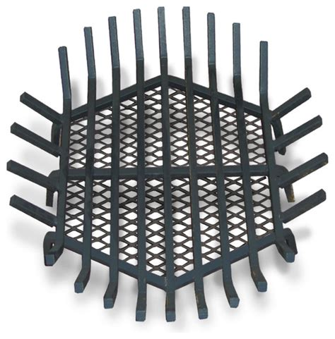 Modern Fireplace Grate by Pit Grate Welded Steel