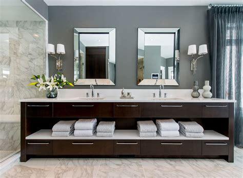 dark brown bathroom vanity dark brown double vanity contemporary bathroom atmosphere interior design