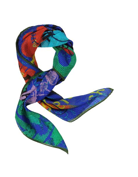 vivienne westwood meaningless print silk square scarf in