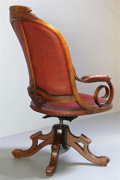 antique swivel desk chair antique oak swivel desk chair antiques atlas