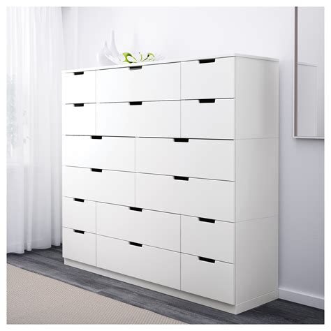 S Drawers by Nordli Chest Of 16 Drawers White 160x142 Cm