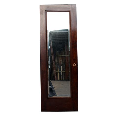 Beveled Mirror Closet Doors Antique One Panel 28 Solid Wood Miracle Door With Beveled Mirror Nid24 For Sale Antiques