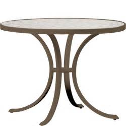36 Inch Glass Dining Table Tropitone 36 Inch Dia X 27 Inch H Patio Dining Table With Acrylic Glass Top