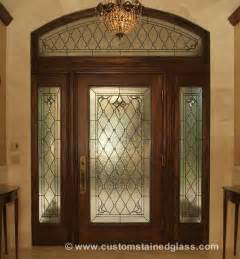 Stained glass door sidelight amp transom windows custom stained glass