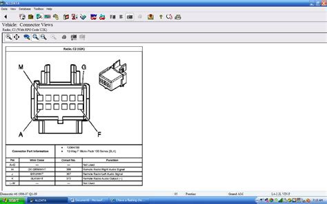 pontiac grand    wiring harness   factory cdstereo   cut
