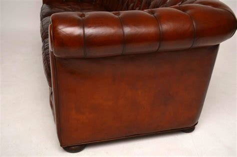 Antique Chesterfield Sofa For Sale Antique Leather Three Seat Chesterfield Sofa For Sale At 1stdibs
