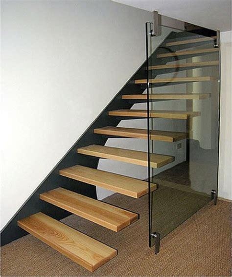 glasgeländer treppe treppe wand design