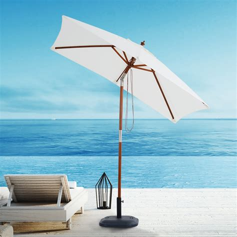 Parasol Bois Inclinable by Outsunny Parasol Rectangulaire Inclinable Toile