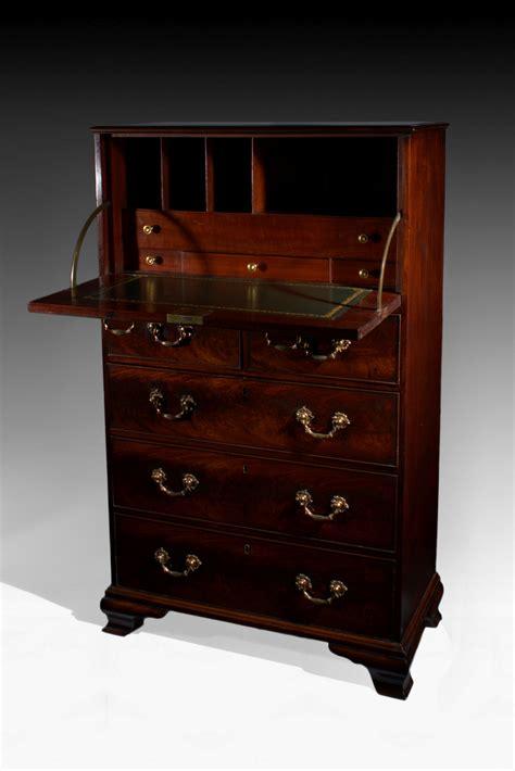 antique george iii mahogany secretaire desk