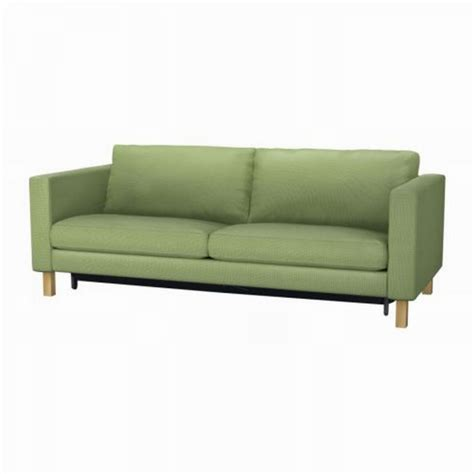 slipcovered sofa bed ikea karlstad sofa bed sofabed slipcover cover korndal green