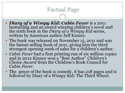 book report of diary of a wimpy kid diary of a wimpy kid cabin fever