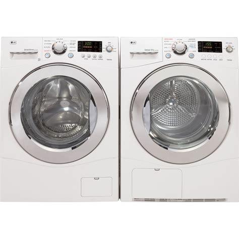 washer dryer set lg wm1355hw washer dlec855w dryer set