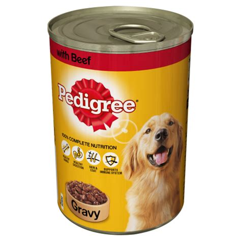 canned puppy food pedigree food in gravy canned tin beef 12 x 400g ebay