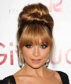 bangs hairstyle 20 bun hairstyles with bangs hairstyles haircuts 2016