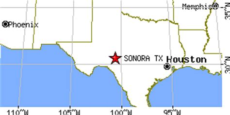 where is sonora texas on the map sonora texas tx population data races housing economy