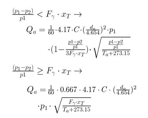 calculator air flow rate   orifice tlv  steam specialist company international