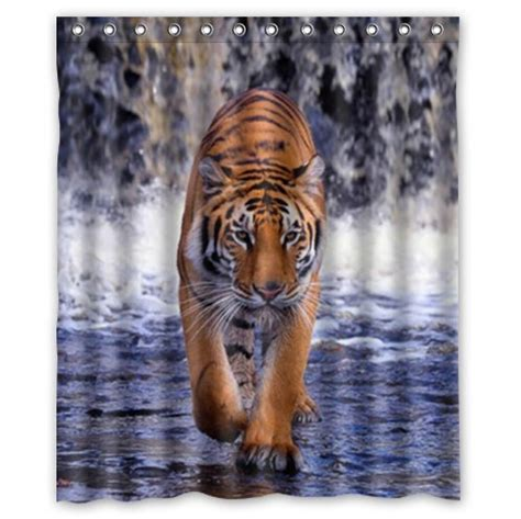 tiger print curtains crboger com tiger print shower curtain baby green 09 02 11
