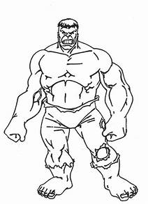 Incredible Hulk Fist Coloring Pages