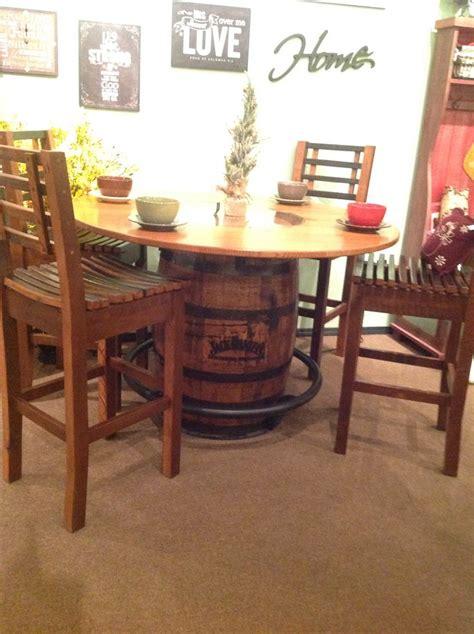 amish whiskey barrel table barrel table s amish furniture