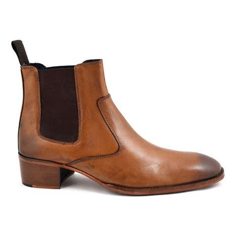 mens chelsea boots cuban heel shop mens cuban heel chelsea boot gucinari