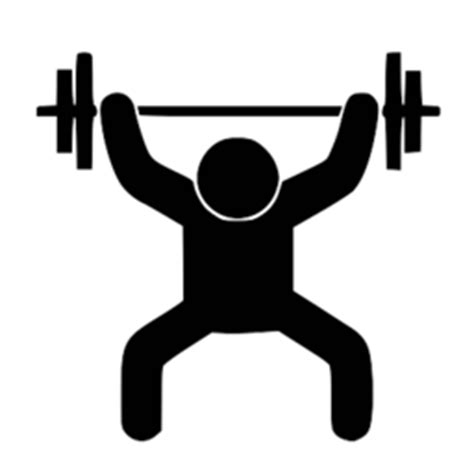 Stick Dumbell stickman weight lifting gesture png image