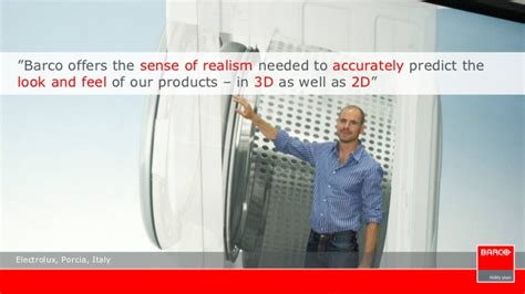 Geophysics Realism And Industry barco company presentation 2012