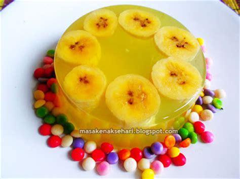 membuat puding rasa buah resep puding nutrijel jeruk isi pisang