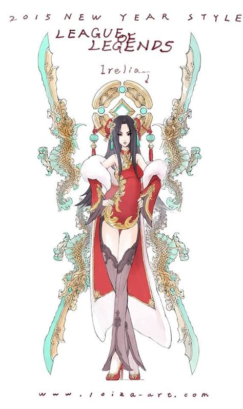 league of legends new year new year style irelia by loiza league of legends artwork
