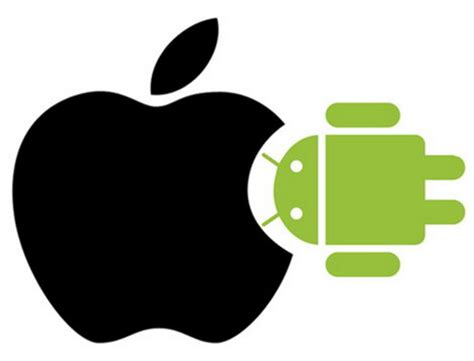 apple google funny apple logo vs android www pixshark com images