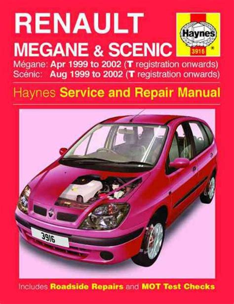 renault megane and scenic haynes workshop car manuals